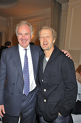 Left to right, GEORGE STEPHENSON Vice Chairman of Save The Rhino and ROBERT DEVEREUX Richard Branson's former brother-in-law at a dinner in aid of the charity Save The Rhino held at ZSL London Zoo, Regents Park, London on 16th October 2012.