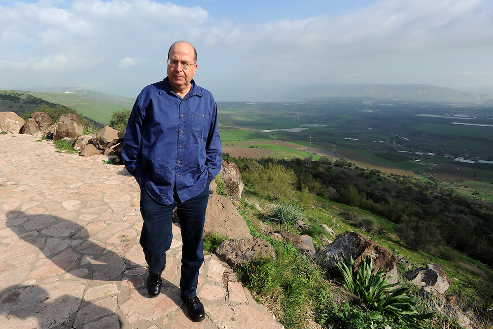GALILEE, ISRAEL - JAN 05, 2010 : Deputy Prime Minister and Minister of strategic affairs Moshe (Bogie) Ya'alon during a tour in Upper Galilee, North Israel. Photo by Gili Yaari