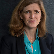 WASHINGTON,DC-JAN11: Former United States Ambassador to the United Nations, Samantha Power, in Washington, DC, January 11, 2017, to attend the screening of the upcoming documentary film, &quot;The Final Year&quot;.<br /> <br /> Photo by Evelyn Hockstein