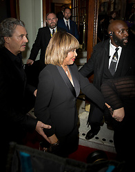 Tina Turner (right) and Erwin Bach (left)arrives at the opening night of TINA, a new musical based on the life of the legendary artist at the Aldwych Theatre, London. Picture dated: Tuesday April 17, 2018. Photo credit should read: Isabel Infantes / EMPICS Entertainment.