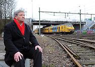 Ton Leenhouwers op de locatie waar ooit het Willem II stadion stond