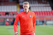 \York City defender, on loan from Burnley, Luke Hendrie  during the Sky Bet League 2 match between York City and Newport County at Bootham Crescent, York, England on 16 January 2016. Photo by Simon Davies.