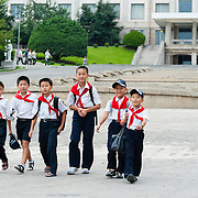 School children at Pyongyang Students and Children's Palace, Pyongyang, DPRK (North Korea)