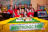 Young engineers and Scientists from all over county Galway at the Medtronic Junior FIRST LEGO League organised by Galway Education Centre in the Radisson Blu Hotel Galway. This year the theme was 'Super Seniors' where pupils 6 to 9 years of age had to research problems for adults over 60 and invent a solution.<br /> . Picture:Andrew Downes