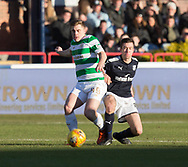 26th December 2017, Dens Park, Dundee, Scotland; Scottish Premier League football, Dundee versus Celtic; Celtic's James Forrest and Dundee's Cammy Kerr