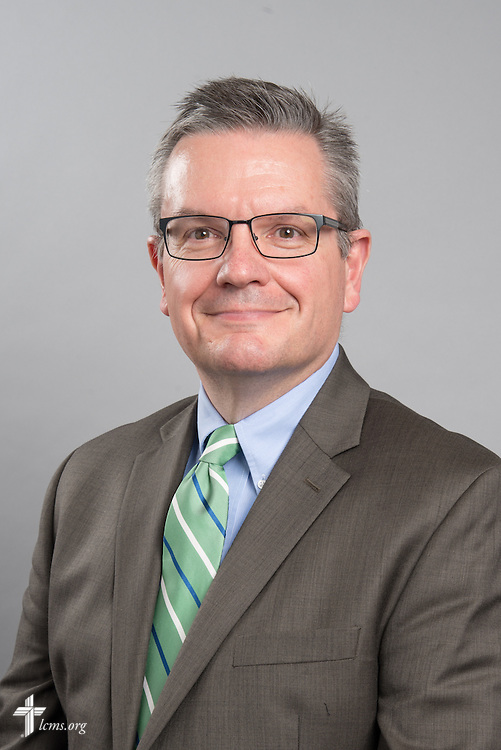 Headshot photograph of the Rev. Kevin D. Robson, chief mission officer of The Lutheran Church—Missouri Synod, on Friday, May 29, 2015, at the International Center of The Lutheran Church–Missouri Synod in Kirkwood, Mo. LCMS Communications/Frank Kohn