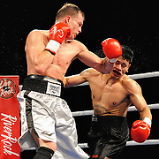 April 3, 2010 - Rumble at the Rock VII - Richmond, BC, Canada - Dave Petryk (Surry, BC) v. Dwayne Welsh (Portland, OR) - Welterweight Boxing - Petryk (0-1-1) and Welsh (Professional Debut) squared off for four rounds of boxing with Petryk winning a unanimous decision. The match was a West Coast Promotions feature held at the River Rock Casino in Richmond, BC, Canada.