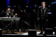"Photos of Bono and The Edge of U2 performing live for the ""It Always Seems Impossible Until It Is Done"" World AIDS Day event at Carnegie Hall in New York, NY on December 1, 2015. © Matthew Eisman/ Rolling Stone. All Rights Reserved"