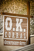 The O.K. Corral, Tombstone, Arizona USA