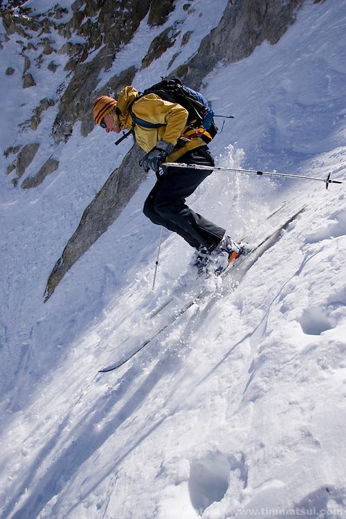 Descending from the Col du Tour Noir, Chamonix, France.