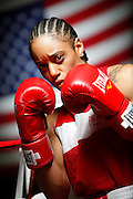 6/24/11 2:35:14 PM -- Colorado Springs, CO. -- A portrait of U.S. Olympic lightweight boxer Queen Underwood, 27, of Seattle, Wash. who will be competing for her fifth title. She began boxing in 2003 and was the 2009 Continental Champion and the 2010 USA Boxing National Champion. She is considered a likely favorite to medal at the 2012 Summer Olympics in London as women's boxing makes its debut as an Olympic sport. -- ...Photo by Marc Piscotty, Freelance.