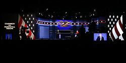 HEMPSTEAD, Sept. 27, 2016 (Xinhua) -- Democrat Hillary Clinton (R) and Republican Donald Trump attend their first presidential debate in Hempstead of New York, the United States, Sept. 26, 2016. Hillary Clinton and Donald Trump on Monday held their first presidential debate in Hempstead. (Xinhua/Qin Lang) (zw) (Credit Image: © Qin Lang/Xinhua via ZUMA Wire)