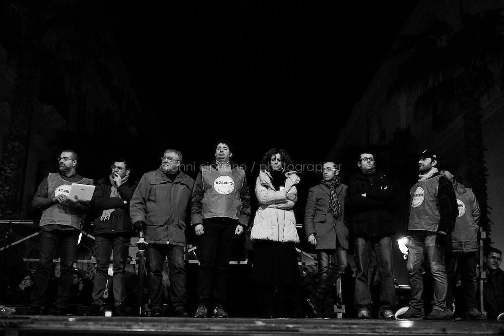 Taranto, Italy - 19 January 2013:  Comic Beppe Grillo, leader of the 5 Stars Movement in Taranto, Italy, on January 19th 2013.