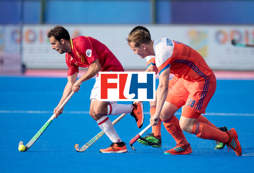 Odisha Men's Hockey World League Final Bhubaneswar 2017<br /> Match id:04<br /> Netherlands vs Spain<br /> Foto: Marc Garcia (Esp) and Floris Wortelboer (Ned) <br /> WORLDSPORTPICS COPYRIGHT FRANK UIJLENBROEK