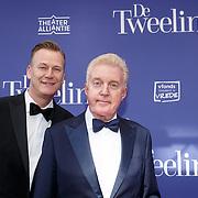 NLD/Amsterdam/20151011 - Inloop premiere De Tweeling, Andre van Duinen partner Martin Elferink