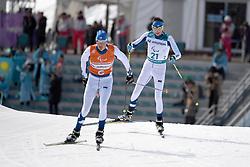 KLEMETTI Rudolf FIN B3 Guide: KALLUNKI Jaakko competing in the ParaSkiDeFond, Para Nordic Skiing, 20km at  the PyeongChang2018 Winter Paralympic Games, South Korea.