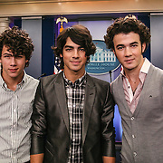 The Jonas Brothers visit The White House before their show later that night in Bristow, VA at Nissan pavilion.