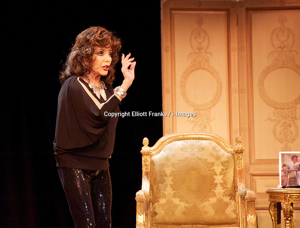 "Joan Collins during ""One Night with Joan"", the Leicester Square Theatre, London, Great Britain, 12 April 2013. Photo by: Elliott Franks / i-Images"