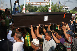 JAKARTA, Nov. 1, 2018 - Jakarta, Indonesia -  Relatives carry the coffin of Jannatun Cintya Dewi, a passenger who died in the crash of Lion Air JT-610, during a funeral in Sidoarjo, East Java, Indonesia. Lion Air flight JT-610 lost contact with air traffic controllers soon after takeoff then crashed into the sea on 29 October. The flight was en route to Pangkal Pinang, and reportedly had 189 people onboard.  (Credit Image: © Kurniawan/Xinhua via ZUMA Wire)