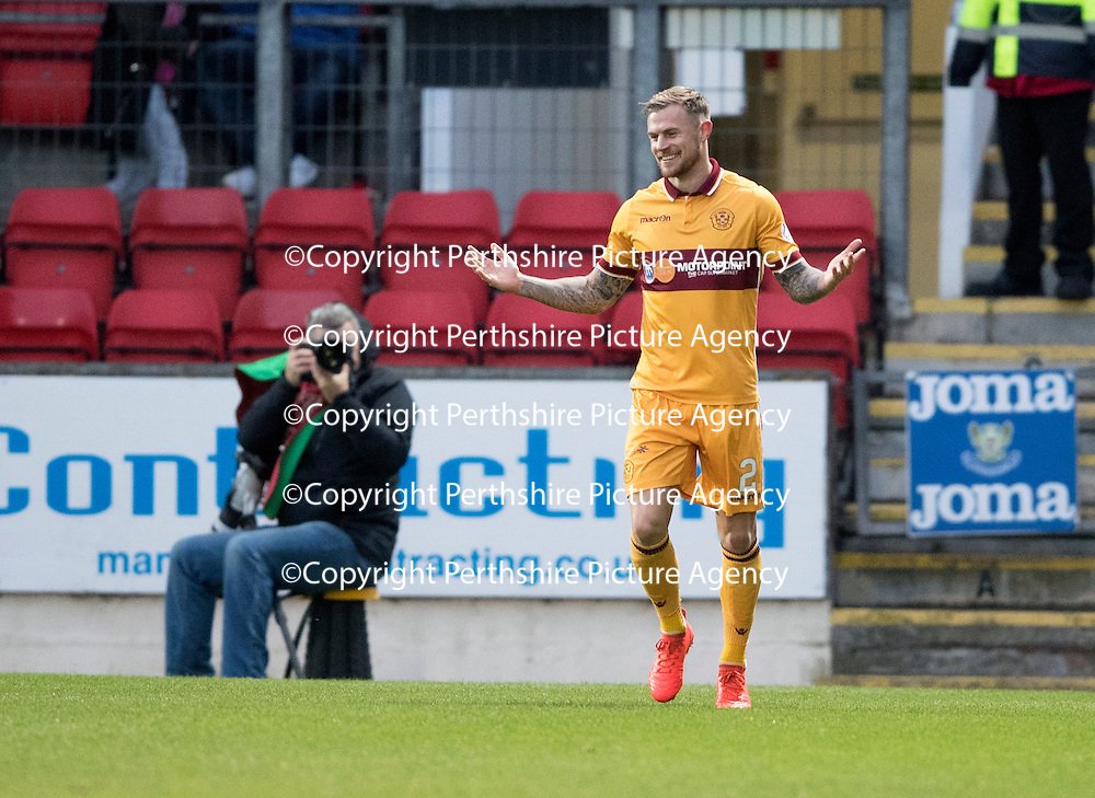 St Johnstone v Motherwell&Ouml;17.12.16     McDiarmid Park    SPFL<br /> Richard Tait celebrates his goal<br /> Picture by Graeme Hart.<br /> Copyright Perthshire Picture Agency<br /> Tel: 01738 623350  Mobile: 07990 594431