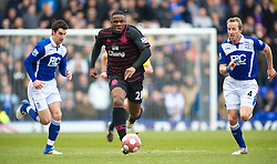 BIRMINGHAM, ENGLAND - Saturday, March 13, 2010: Everton's Victor Anichebe in action against Birmingham City during the Premiership match at St Andrews. (Photo by David Rawcliffe/Propaganda)