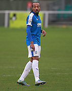 Dover midfielder Ricky Modeste during the FA Trophy match between Whitehawk FC and Dover Athletic at the Enclosed Ground, Whitehawk, United Kingdom on 12 December 2015. Photo by Bennett Dean.