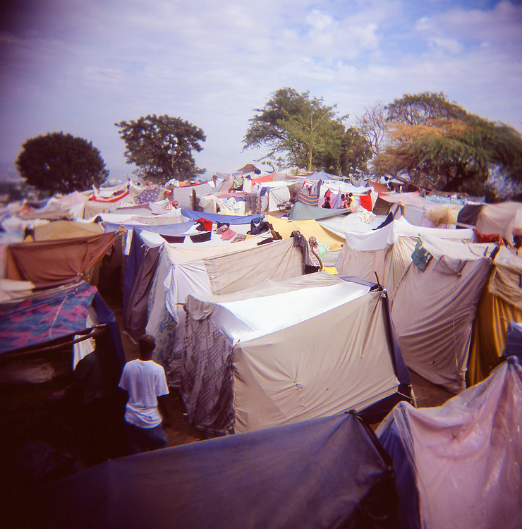 The Petionville Club camp on January 26, 2010 in Port-au-Prince, Haiti.