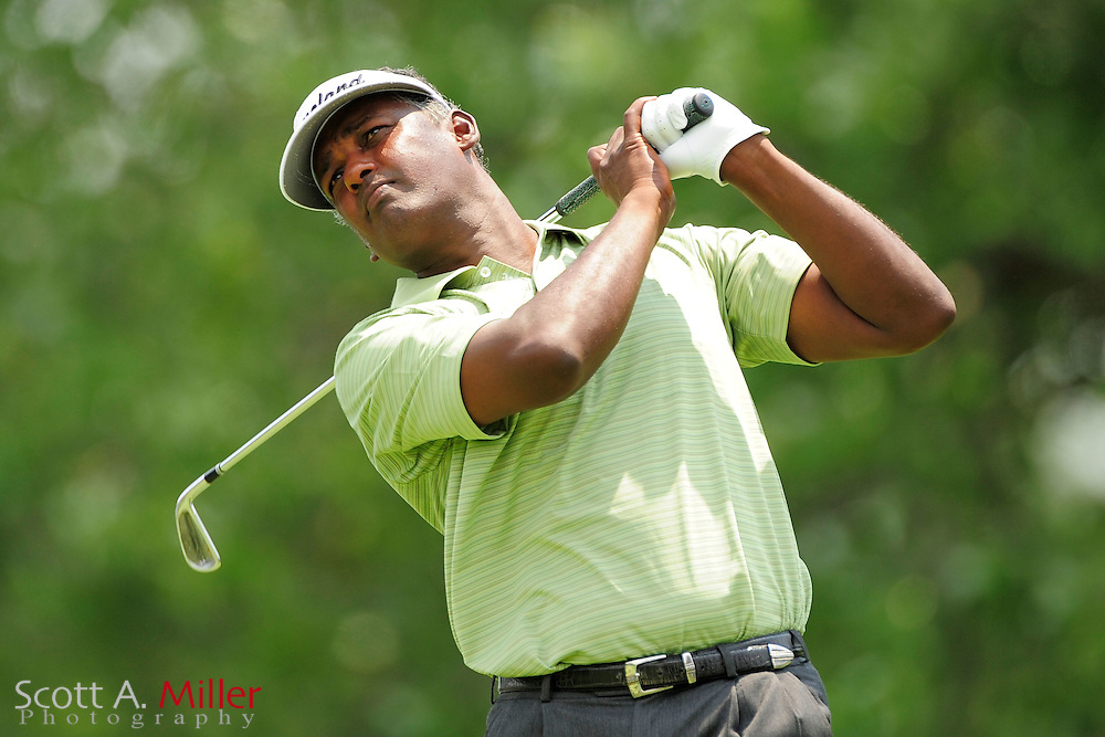 Vijay Singh during the final round of the AT&T National at Congressional Country Club on July 1, 2012 in Bethesda, Maryland. ..©2012 Scott A. Miller
