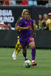 July 22, 2018 - Charlotte, NC, U.S. - CHARLOTTE, NC - JULY 22:  Lazar Markovic (50) of Liverpool with the ball during the International Champions Cup soccer match between Liverpool FC and Borussia Dortmund in Charlotte, N.C. on July 22, 2018.(Photo by John Byrum/Icon Sportswire) (Credit Image: © John Byrum/Icon SMI via ZUMA Press)