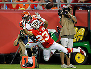 in the first half of an NFL preseason football game Thursday, Aug. 7, 2014, in Kansas City, Mo. (AP Photo/Colin E. Braley)of an NFL football game against the Cincinnati Bengals at Arrowhead Stadium in Kansas City, Mo., Thursday, Aug. 7, 2014. (AP Photo/Colin E. Braley)