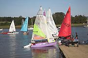 Boats on River Deben, Woodbridge, Suffolk, England