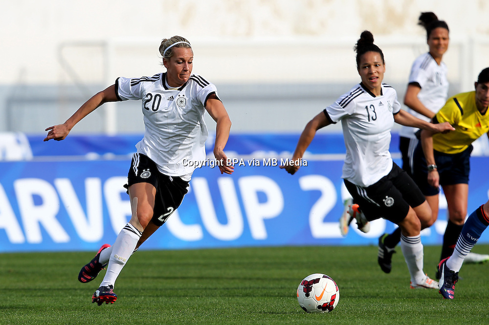 Fifa Womans World Cup Canada 2015 - Preview //<br /> Algarve Cup 2015 Tournament ( Vila Real San Antonio Sport Complex - Portugal ) - <br /> Germany vs Sweden 2-4   -  Lena Goessling of Germany