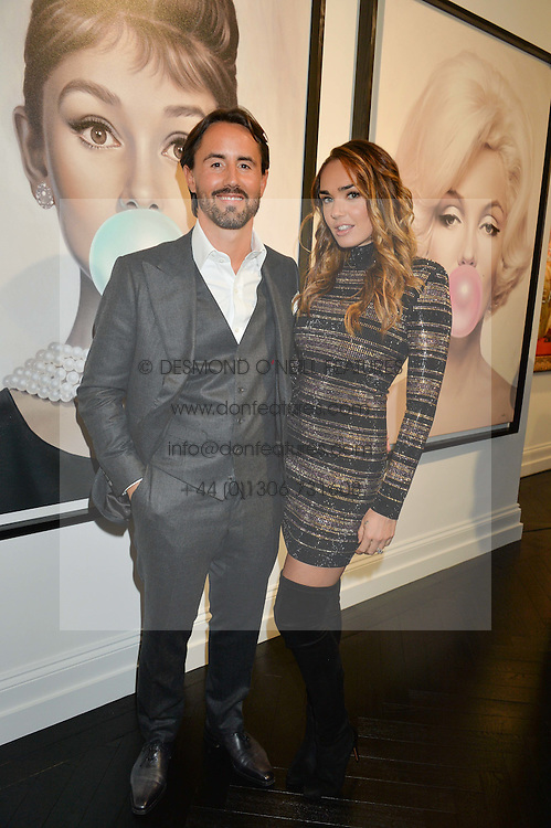 TAMARA ECCLESTONE -RUTLAND and her husband JAY RUTLAND at a party to celebrate the launch of the Maddox Gallery at 9 Maddox Street, London on 3rd December 2015.