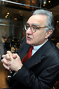 Alain Ducasse talks in the kitchen at Beige Alain Ducasse Tokyo in the Ginza district of Tokyo, Japan on June 3 2008. ..Photographer: Robert Gilhooly..