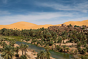 Overlook over the Oasis of Taghit, western Algeria
