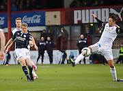 Dundee's Jim McAlister fires in a shot  - Dundee v Inverness Caledonian Thistle, SPFL Premiership at Dens Park <br /> <br />  - &copy; David Young - www.davidyoungphoto.co.uk - email: davidyoungphoto@gmail.com