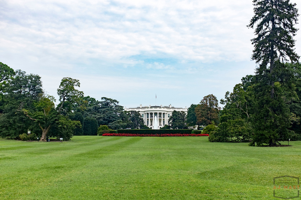 The White house from the south lawn in Washington, D.C., Sunday, Aug. 30, 2015. (AJ Mast )