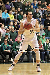 08 March 2014:  Mike Marietti during an NCAA mens division 3 2nd Round Playoff basketball game between the St Norbert Green Knights and the Illinois Wesleyan Titans in Shirk Center, Bloomington IL