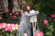 HELENA BONHAM CARTER; BELLA FREUD; , Freud Museum dinner, Maresfield Gardens. 16 June 2011. <br /> <br />  , -DO NOT ARCHIVE-© Copyright Photograph by Dafydd Jones. 248 Clapham Rd. London SW9 0PZ. Tel 0207 820 0771. www.dafjones.com.