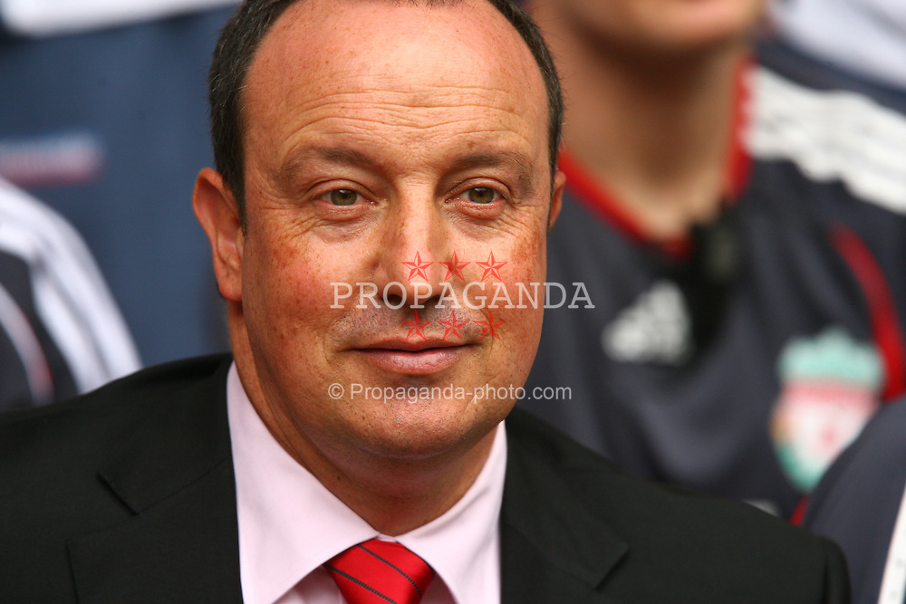 CARDIFF, WALES - SUNDAY, AUGUST 13th, 2006: Liverpool's manager Rafael Benitez before the Community Shield match against Chelsea at the Millennium Stadium. (Pic by David Rawcliffe/Propaganda)