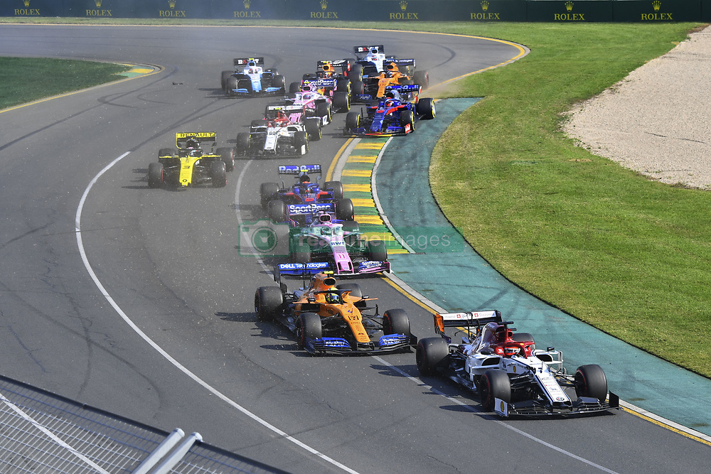 March 17, 2019 - Melbourne, Australia - Motorsports: FIA Formula One World Championship 2019, Grand Prix of Australia, .. Start, #7 Kimi Raikkonen (FIN, Alfa Romeo Racing), #4 Lando Norris (GBR, McLaren F1 Team), #11 Sergio Perez (MEX, Racing Point F1 Team) (Credit Image: © Hoch Zwei via ZUMA Wire)