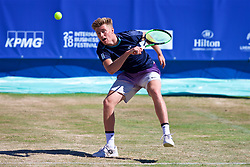 LIVERPOOL, ENGLAND - Sunday, June 24, 2018: Adam Jones (GBR)  during day four of the Williams BMW Liverpool International Tennis Tournament 2018 at Aigburth Cricket Club. (Pic by Paul Greenwood/Propaganda)