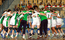 Team Belorussia after handball game between women national teams of Slovenia and Belorussia, second qualification game for the European Chamionship 2009, on June 7, 2008, in Arena Zlatorog, Celje, Slovenija. (Photo by Vid Ponikvar / Sportal Images)
