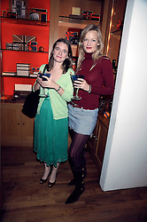 Left to right, LUCY HAWKES and ALEXA INGE at the Linley Christmas party at their store at 60 Pimlico Road, London on 19th November 2008.