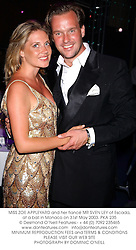 MISS ZOE APPLEYARD and her fiancé MR SVEN LEY of Escada, at a ball in Monaco on 31st May 2003.PKA 235