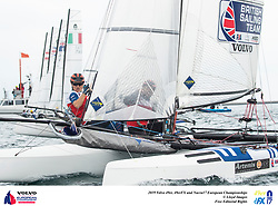 The Volvo 49erFX Nacra17 European Championship. Portland. Weymouth. UK.Handout image. Credit : Lloyd Images