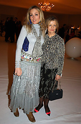 BAY GARNETT and her mother POLLY DEVLIN at the Moet & Chandon Fashion Tribute 2005 to Matthew Williamson, held at Old Billingsgate, City of London on 16th February 2005.<br />