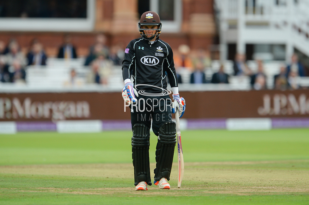 Sam Curran of Surrey during the Royal London One Day Cup match between Warwickshire County Cricket Club and Surrey County Cricket Club at Lord's Cricket Ground, St John's Wood, United Kingdom on 17 September 2016. Photo by David Vokes.