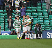 Celtic's Leigh Griffiths is congratulated after his goal -  Celtic v Dundee - SPFL Premiership at Celtic Park<br /> <br /> <br />  - © David Young - www.davidyoungphoto.co.uk - email: davidyoungphoto@gmail.com