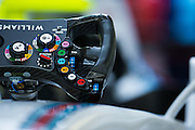 October 8, 2015: Russian GP 2015: Williams F1 steering wheel